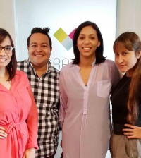 Desde la izquierda, Giselle Escaño, William Vargas, Neika Núñez y Mariel Pou. [Crédito de imagen: IGRD]