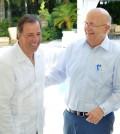 José Antonio Meade y Carlos Morales Troncoso, cancilleres de México y República Dominicana, durante su reunión en RD.