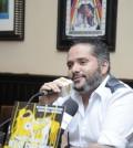 El cantante Pavel Núñez en rueda de prensa el 31 de marzo de 2014.
