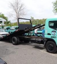 Ciudadanos reciben asistencia vial por parte de Amet.