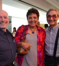 Eduardo Villanueva, Blanca Delgado y José Miura.