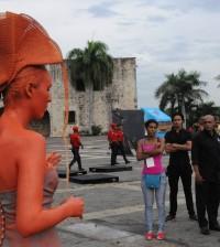 Festival de Estatuas Vivas se celebró en la Ciudad Colonial.