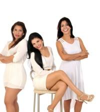Yaniris Tavarez, Jenny Medina y Glenys Abreu, las amigas del entretenido programa radial.