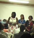 Algunas de las mujeres que participaron en el acto de reconocimiento del PDI.
