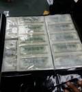 Dólares incautados por la DNCD.