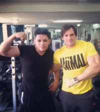 Rafely Rosario junto a su entrenador Sócrates Alba, en plena faena de preparación para regresar a los escenarios.   Instagram/rafelyrosario