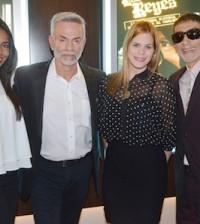 Desde la izquierda, Laura Guerra, Jorge Luis Ramos, Nathaly García y Vicente Castro.