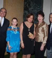 Leo Morales, Lucy García, Margarita de Rivas, Julia Lora y Bolívar Rodríguez, desde la izquierda.