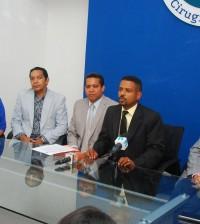 Los doctores Orlando Vargas, Rafael Cisneros, Martha Vargas y Manuel Tarrazo Torres.