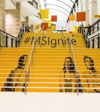 Microsoft satya ignite stairs 2015